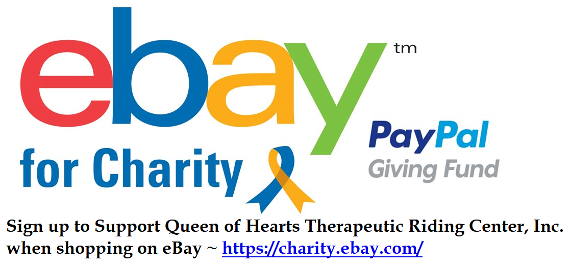 PayPal Giving Fund allows for 100% of donations to go directly to Queen of Hearts Therapeutic Riding Center, Inc. with no administrative fees.